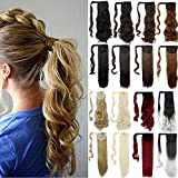 Lelinta 24' Straight Wrap Around Ponytail Hairpieces for Woman Synthetic Hair Extension