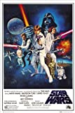 Star Wars: A New Hope Movie (Group, Credits) Poster Print
