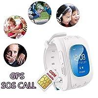 Hangang Montre connectée avec GPS, appel d'urgence, traceur, etc. pour enfants