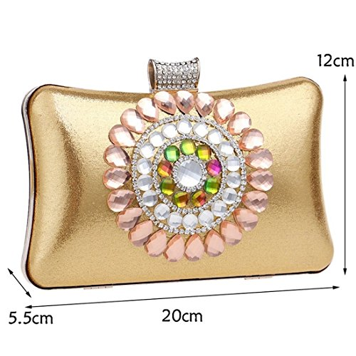 Black Diamond Luxury Handbag Party Purse KERVINFENDRIYUN Bag Bag Evening Women's Banquet Clutch Ladies Gold Color 0ZqCO5