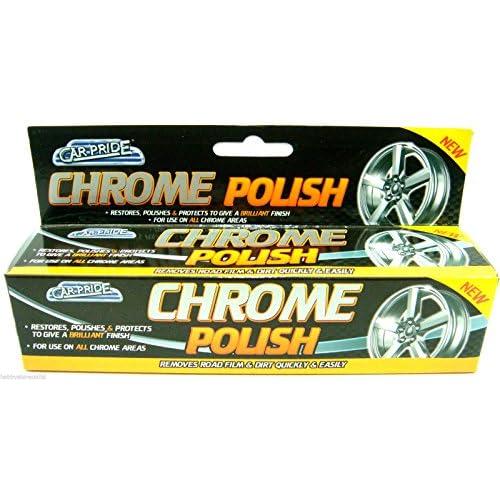 Voiture Pride Chrome polonais en métal polonais restaurateur Protection d'écran Pâte voiture Nettoyant Roue