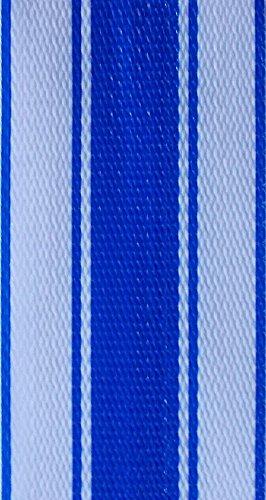 WebbingPro(TM) Blue Stripe Lawn Chair Webbing 2 1/4 Inch Wide 100 Feet Long Roll