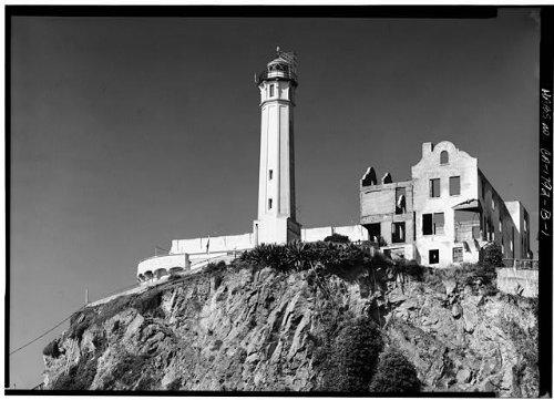 Photo: Alcatraz,Warden's House,San Francisco Bay,California,CA,HABS,San - San Map Fran Shopping