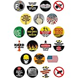 Ballgaze Hard Hat Decals Funny Stickers Two 2 Circle Game Meme Stickers