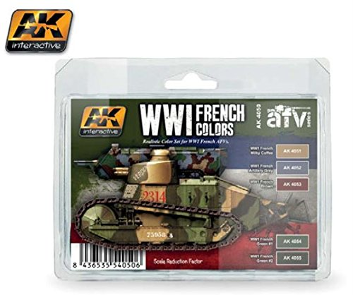 WWIフランス色アクリルペイントセット(5色) 17 ml Bottles AK Interactive   B01LW5MZKJ