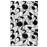 FSKDOM Animal Black And White Sharks Double Jacquard Premium Beach Towel 40'' X 70'' Solid
