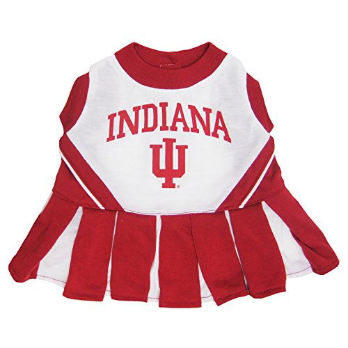 Pets First Collegiate Indiana Hoosiers University Dog Cheerleader Outfit, Small]()