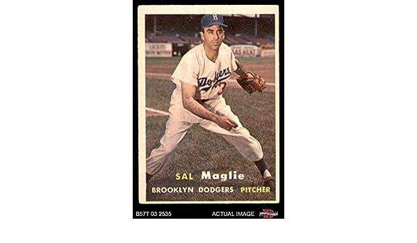 1957 Topps #5 Sal Maglie Brooklyn Dodgers Baseball Card Verzamelkaarten, ruilkaarten