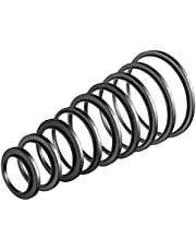 Neewer 9 Pieces Step-up Lens Filter Adapter Rings Set, Made of Premium Anodized Aluminum, Includes: 37-49mm, 49-52mm, 52-55mm, 55-58mm, 58-62mm, 62-67mm, 67-72mm, 72-77mm, 77-82mm