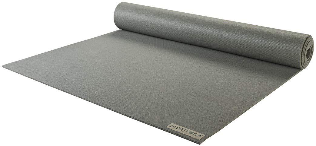Jade Yoga - Harmony Yoga Mat (3/16'' Thick x 24'' Wide x 68'' Long - Color: Gray)