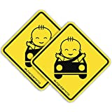 Baby : Best See-Thru Baby On Board Sticker For Smart Parents, Unobstructed View, Stays On, Works With Tinted Window, Removable And Will Not Fade