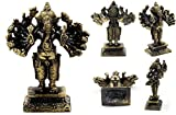 Brass Lord Ganesha om Buddhist Hindu Religious wealth luck and success size 7.5 cm. with Special Gift