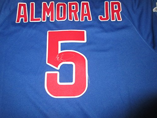 906224e3c ... Albert Almora Jr Autographed Chicago Cubs Jersey, Chicago Cubs, Top  Prospect at Amazons Sports ...