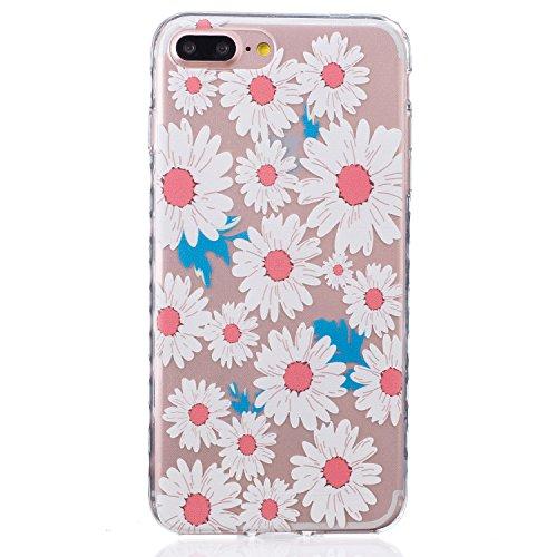 Für Apple iPhone 7 Plus (5,5 Zoll) Hülle ZeWoo® TPU Schutzhülle Silikon Tasche Case Cover - BF083 / Chrysantheme