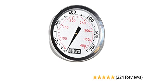 Weber Replacement Thermometer 67088, Center Mount, 2-3/8