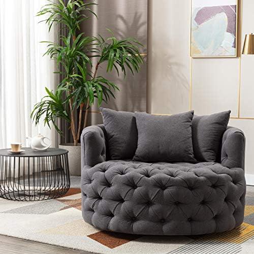Pannow Modern Akili Swivel Accent Sofa Barrel Chair