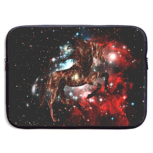 13-15 Inch Laptop Sleeve Galaxy Unicorn Combining Themes Notebook Computer Pocket Case/Tablet Briefcase Carrying Bag MacBook Bag for -