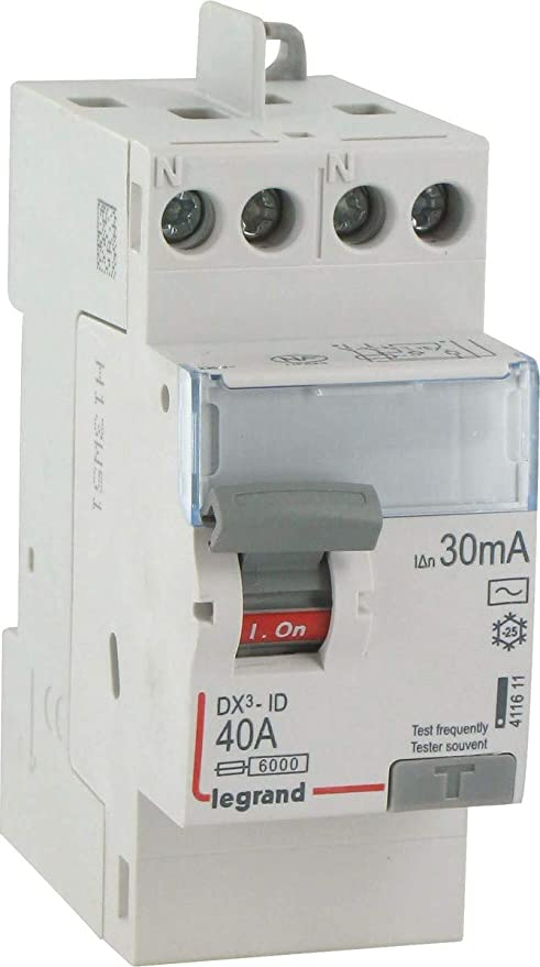 Legrand LEG92829 Interrupteur Diff/érentiel BIP 25A 30 Ma Type AC