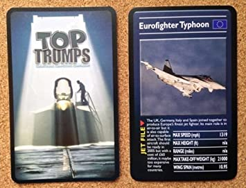 Top Trumps Single Card ULTIMATE MILITARY Jets - EUROFIGHTER