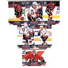 2013-14 Upper Deck NHL Hockey Calgary Flames Series 1 Veterans Team Set -6 Cards Including: Mikael Backlund Dennis Wideman Jiri Hudler Michael Cammalleri Joey MacDonald Sven Baertschi