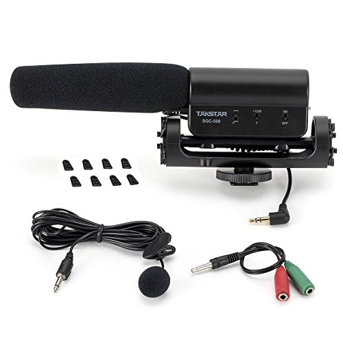 ATian TAKSTAR SGC-598 Professional Video Microphone Interview Microphone Used on DSLR Nikon/Canon/Camera/DV Camcorder, ect. (3.5mm Interface)
