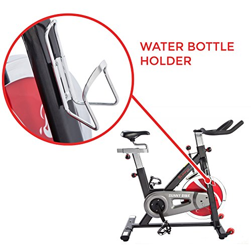 Sunny Health & Fitness Belt Drive Indoor Cycling Bike, Grey by Sunny Health & Fitness (Image #8)