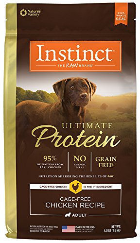 Instinct Ultimate Protein Grain Free Cage Free Chicken Recipe Natural Dry Dog Food by Nature's Variety, 4 lb. Bag