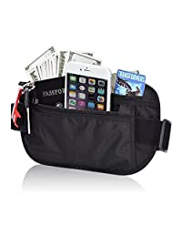 BlueBeach Travel Anti-Theft RFID Blocking Waist Pouch Bag Money Belt Wallet Case Credit Card ID Paypass Protector Secure Holder