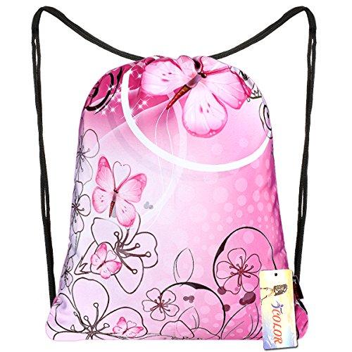 - iColor Drawstring Backpack Bag Sackpack Gym sack Sport Beach Daypack for Girls Men & Women Teen Dance Bag Cycling Hiking Team Training