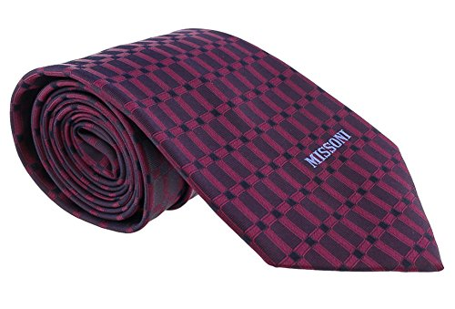 Missoni Grid Magenta Woven 100% Silk Tie for mens