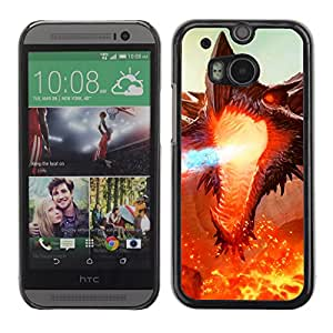 Hot Style Cell Phone PC Hard Case Cover // M00100850 art hellkite ancient // HTC One M8