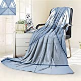 AmaPark Digital Printing Blanket Corridor of Futuristic ceship Inside Technology Building Indoor Print White Summer Quilt Comforter