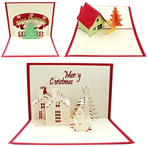 IBEET 3D Thanksgiving Card 3D Pop-up Merry Christmas Greeting Cards Sales