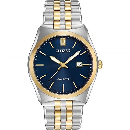6b7c8d87e5e Citizen Corso Men s Quartz Watch with Blue Dial Analogue Display and Silver  Stainless Steel Plated Bracelet BM7334-58L  Amazon.co.uk  Watches