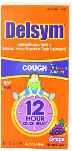 Delsym Extended Release Cough Suspension for Children, Grape, 5 Fluid Ounce by Delsym