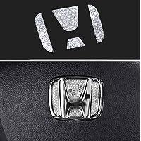 Bling Bling Car Steering Wheel Decorative Diamond Sticker Fit For Honda,DIY Bling Car Steering Wheel Emblem Bling…