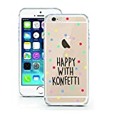 clear back blue bumper iphone5s - iPhone 6 6S Case by licaso for the iPhone 6 6S TPU Disney Case Happy with Konfetti Party Clear Protective Cover iphone6 Mobile Phone Sleeve Bumper (iPhone 6 6S, Happy with Konfetti)
