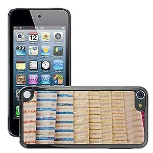 Etui Housse Coque de Protection Cover Rigide pour // M00150344 Fondo Brillante Manojo Tela Color // Apple ipod Touch 5 5G 5th