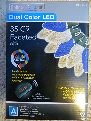 35 Led Color Changing C9 Lights
