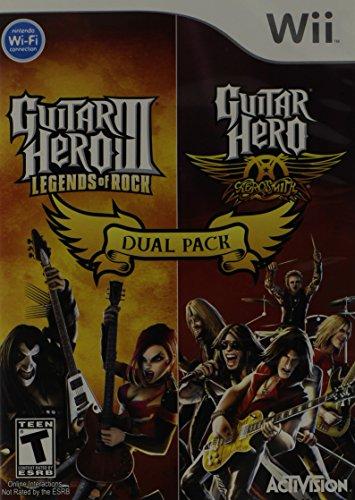 Dual Pack Guitar Hero III and Guitar Hero Aerosmith - Nintendo Wii (Wii Version Guitar)