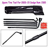 2002 to 2015 Dodge Ram 1500 Spare Tire Repair Tools Replacement Kit for Jack Lug Wheel Wrench Set with Bags