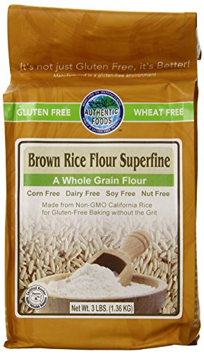 Authentic Foods Superfine Brown Rice Flour - - Dairy Rice Free