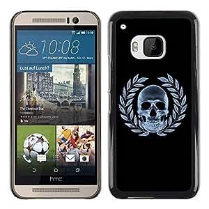 PC/Aluminum Funda Carcasa protectora para HTC One M9 Cool Skull X-Ray Goth / JUSTGO PHONE PROTECTOR