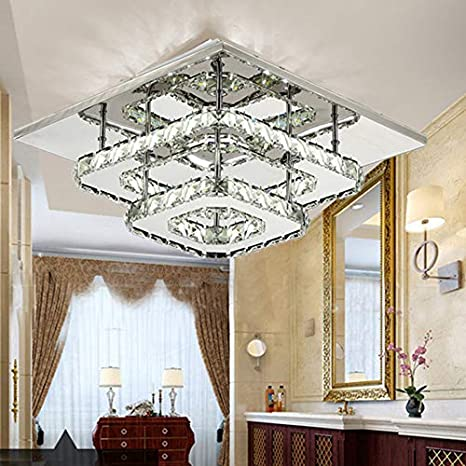 Crystal LED Aisle Lamp lamparas de techo Surface Mounting Ceiling ...