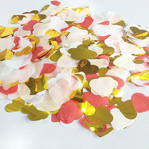 Tissue Heart (StarParty 1 inch Multicolor Heart Paper Tissue Confetti 6000 Pieces For All Kind Of Celebrations)