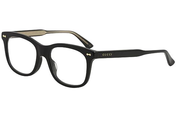 ca2859af44 Amazon.com  Eyeglasses Gucci GG 0186 OA- 001 BLACK    Clothing