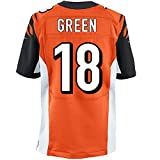 2016-17 New Mens #18 AJ Green Stitched Jersey in Orange Quality American Football Jersey Size S M L XL XXL 3XL