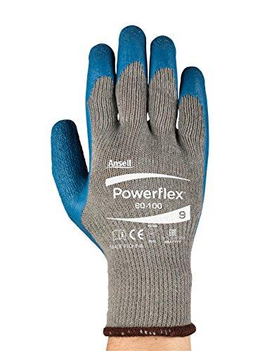 (Powerflex80-100 Multipurpose Gloves - Heavy Duty, Abrasion Resitance, Grip, Size Medium (pack of 12))