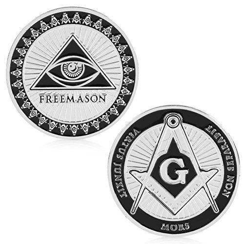 puhoon Commemorative Coin, Masonic Freemasonry Commemorative Coin Token Art Collectible Collection Physical, Valuable Coin For Commemoration, 21#
