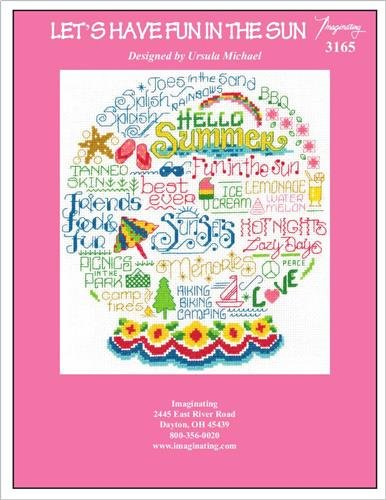 Let's Have Fun in the Sun (Model 3165) Cross Stitch Kit and Free Embellishment